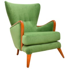 1950s Vintage Wing Back Armchair by Howard Keith