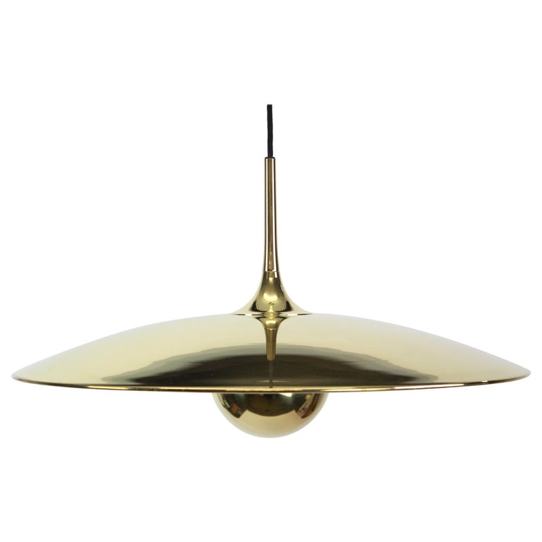 Large Adjustable Brass Counterweight Pendant Light by Florian Schulz, Germany