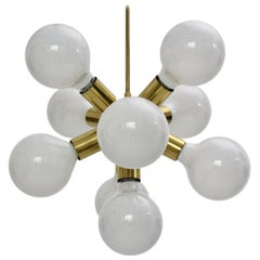 Brass Mid-Century Modern Sputnik Chandelier, 1970s