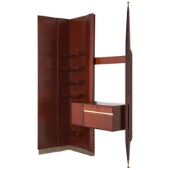 Italian Wall Unit in Rosewood, 1950s