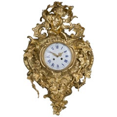 Elaborate Louis XV Style Gilt Bronze Cartel Clock, circa 1890