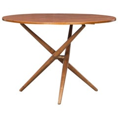 1950s Brown Wooden Eat and Tea Table by Jürg Bally 'l'