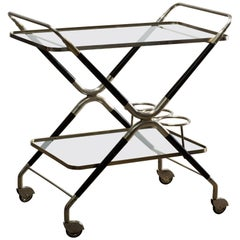 Vintage Italian Midcentury Bar Cart Designed by Cesare Lacca, 1940