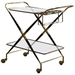 Italian Midcentury Bar Cart Designed by Cesare Lacca