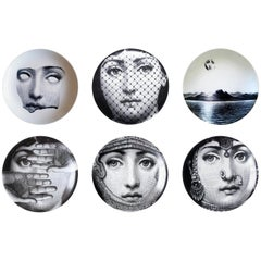 Piero Fornasetti Tema E Variazioni Plates, Themes and Variations