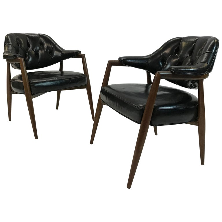 Pair of Walnut Armchairs by Maurice Bailey for Monteverdi-Young