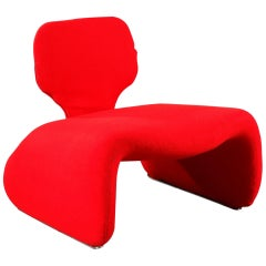 Olivier Mourgue & Airborne, Red Djinn Chair for Airborne