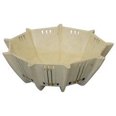 Art Deco Weller Bowl with Pierced Decoration