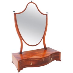 Antique Georgian Large Dressing Table Mirror
