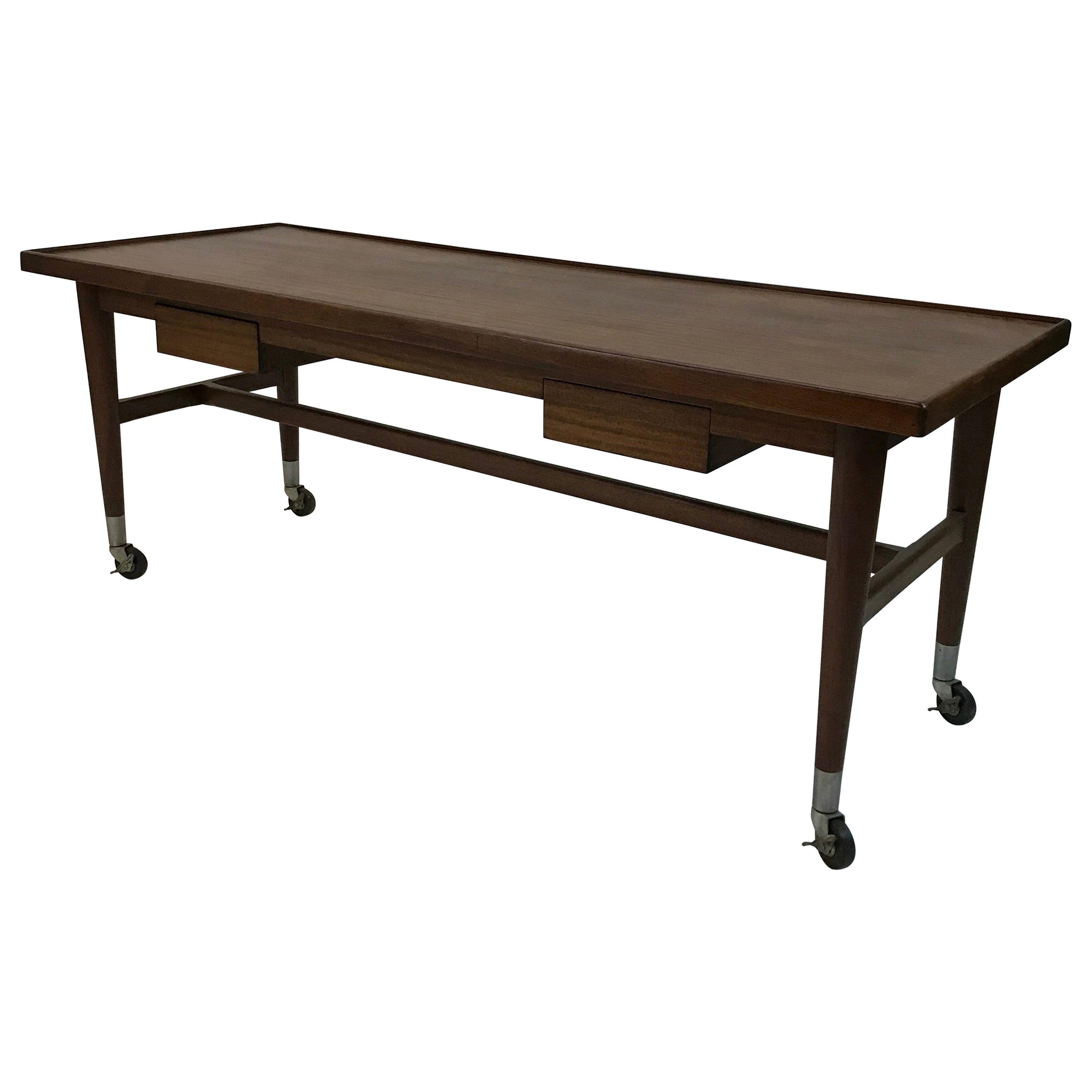 Custom Architect Mahogany Work Table Desk