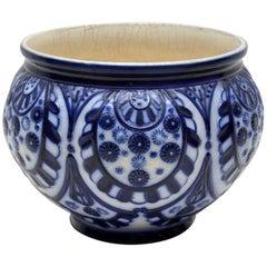 Large Antique Victorian Ceramic Flower Bowl