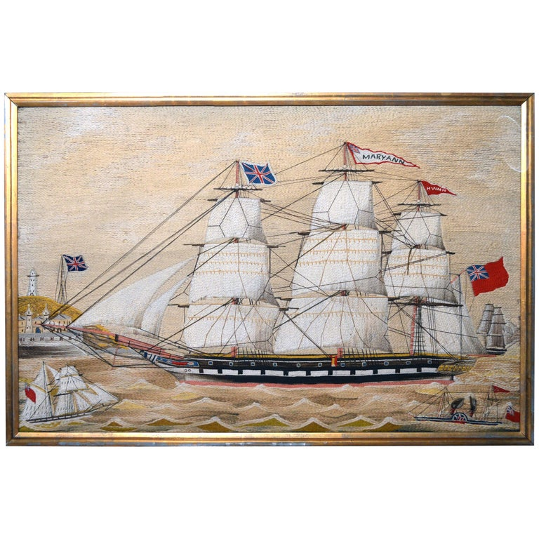 British Sailor's Woolwork 'Woolie' of the Mary Ann, circa 1870-1880