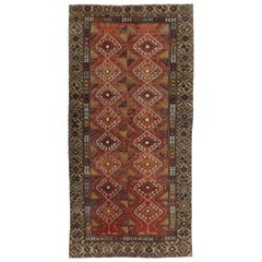 Vintage Turkish Oushak Runner with Modern Style, Wide Hallway Runner