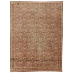 Vintage Turkish Oushak Area Rug with Modern Traditional Style