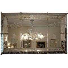 Italian Murano Glass Mirror Art Deco, 1930s