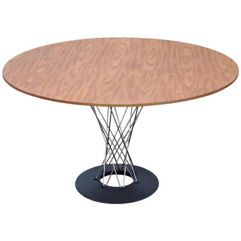 Vintage Mid-Century Modern Chrome Cyclone Dining Table Isamu Noguchi Knoll