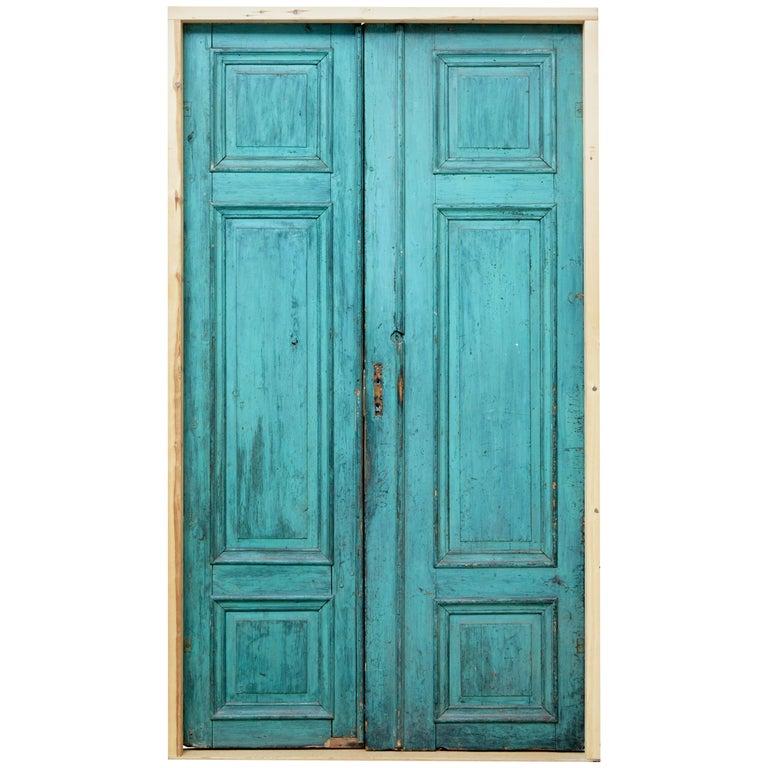 Pair of Late 19th Century Reclaimed Painted Swedish Doors