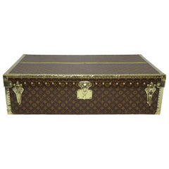 Louis Vuitton Explorer's Monogram and Brass Motor Trunk