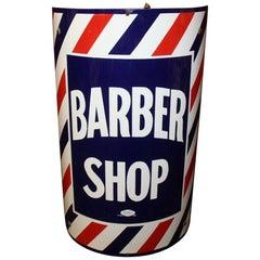 1940s BARBER SHOP Curved Marvy Porcelain Sign