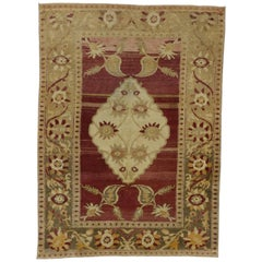 Vintage Turkish Oushak Rug with Modern Tribal Style, Entry or Foyer Rug