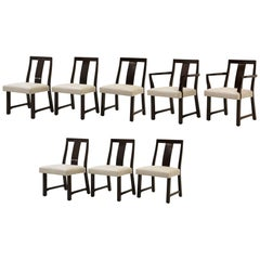 Set of Eight Dining Chairs by Edward Wormley for Dunbar, New Knoll Upholstery