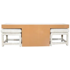 Milo Baughman for Thayer Coggin Console Table with Benches