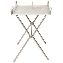 Industrial Style Aluminum Tray on Stand