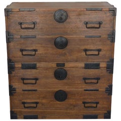 19th Century Japanese Shop Tansu, Chest of Drawers