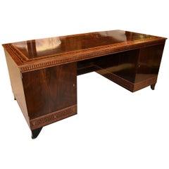 Early 20th Century Carl Malmsten Desk in Rosewood Veneer