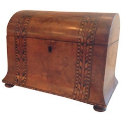 Superb Tunbridge Tea Caddy
