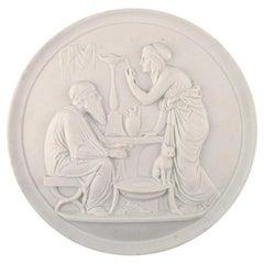 B&G 'Bing & Grondahl' Large Biscuit Platter after Thorvaldsen, circa 1880s