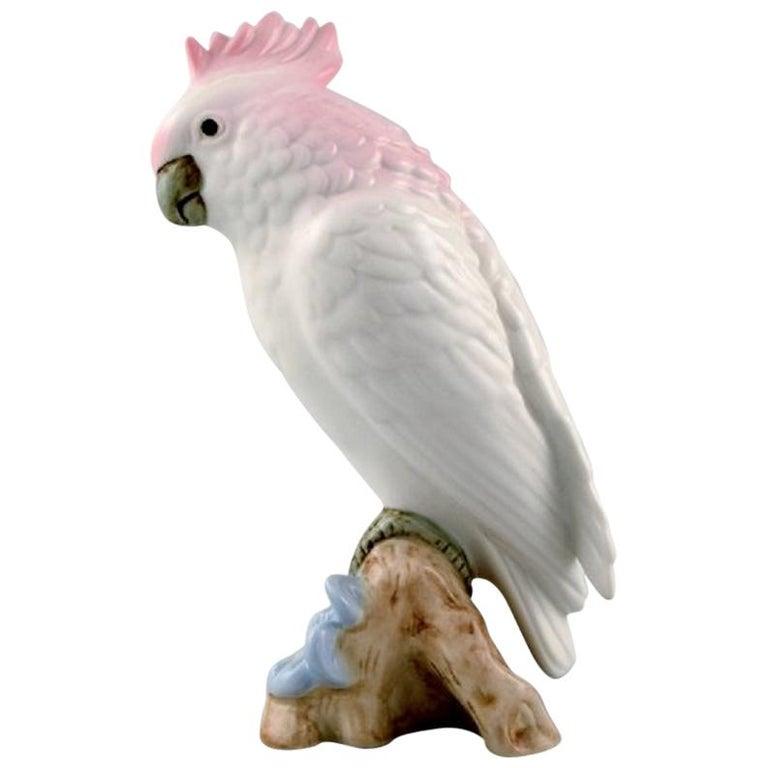 Art Deco Royal Dux Parrot on Branch, Porcelain