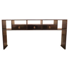 Fine Black Lacquer Console Table