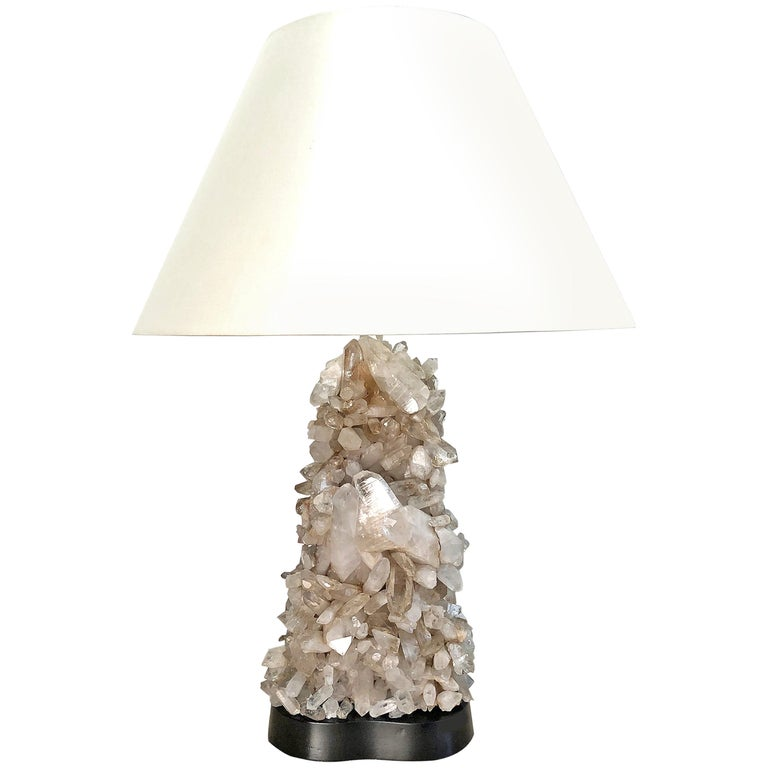 Carole Stupell Quartz Crystal Lamp For Sale