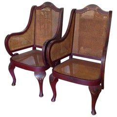 Pair of Superior English Chinoiserie Armchairs