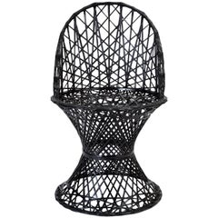 Single Woodard Spun Fiberglass Patio Dining Side Chair