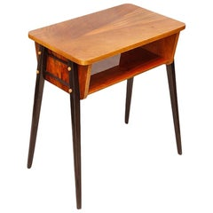 Modernist Walnut Table, Mid-Century Modern, Poland, 1971