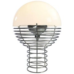 """Classic Space Age Table Lamp """"Wire"""" by Verner Panton"""