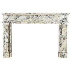 Louis XIV Style Pavonazzo Marble Chimneypiece