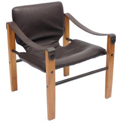 Brazilian Safari Chair, Model Chelsea by Maurice Burke for Pozza, 1960s