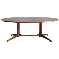 1950s Franco Albini Italian Walnut Dining Table Model TL22 for Poggi