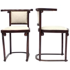 Cabaret Fledermaus Chairs by Josef Hoffmann for Thonet, Set of Two