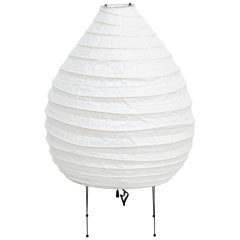 Isamu Noguchi Mid-Century Modern Akari Bamboo Washi Paper Floor Lamp 22N For Sale
