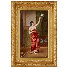 'Oriental Girl' German KPM Porcelain Plaque