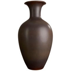Gunnar Nylund Stoneware Floor Vase for Rörstrand, 1950s