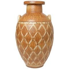 Gunnar Nylund stoneware floor vase for Rörstrand, 1940's