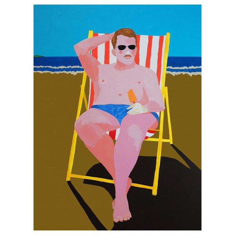 'Hot Ken' Figurative Portrait Painting by Alan Fears Pop Art