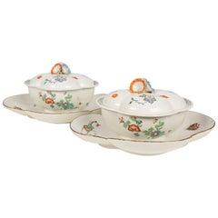 Antique French Kakiemon Porcelain Tureens, 18th Century