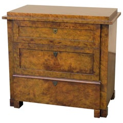 Burl Walnut Commode by Baker Furniture Co.