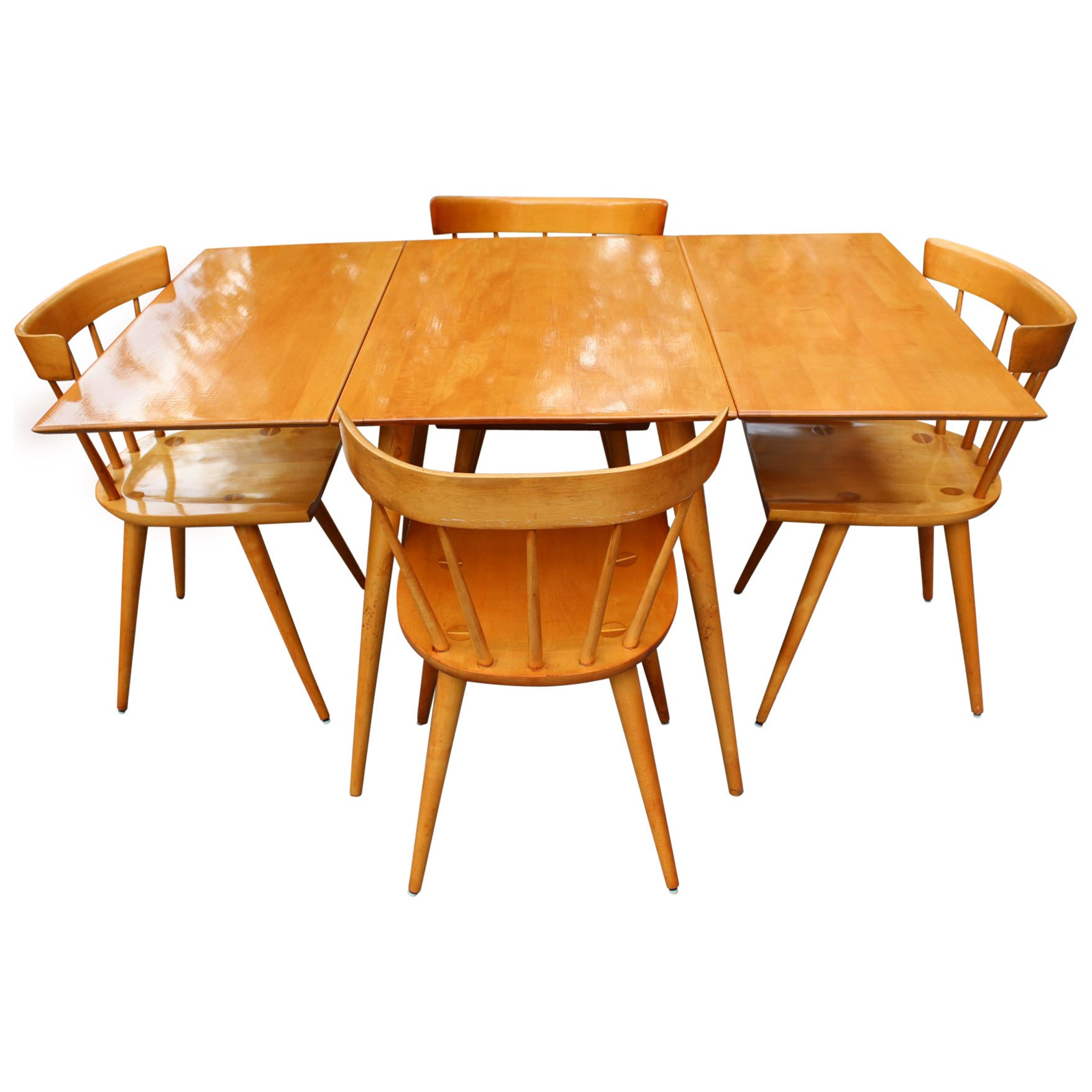 Paul McCobb Mid Century Modern Maple Wood Dining Room Set At 1stdibs